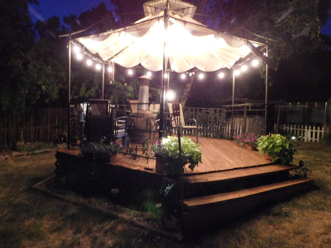 gazebo deck lighting night