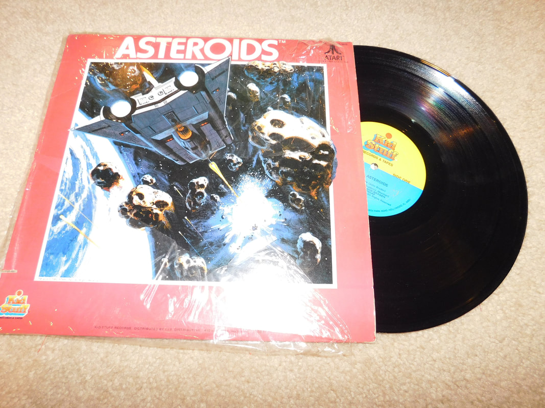 Kids stuff Atari Asteroids vinyl record