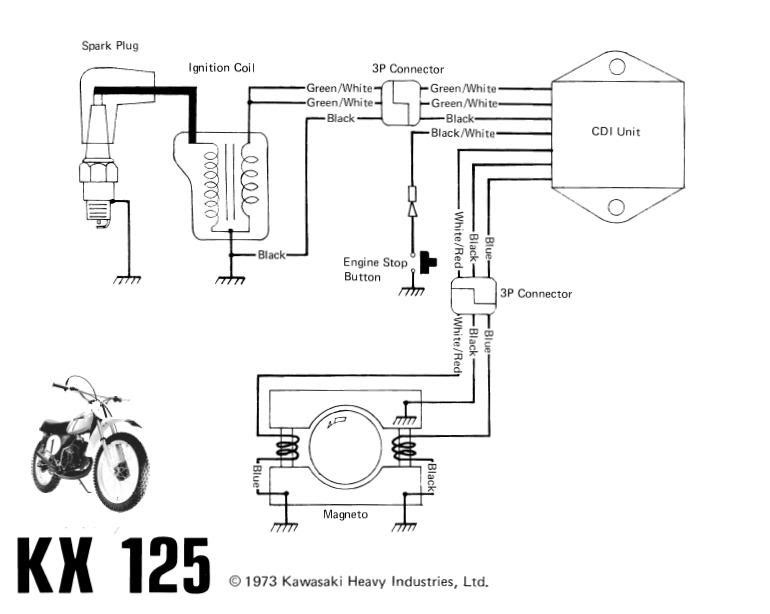 1973 Kawasaki Kx 125 Wiring Diagram: Kawasaki Electrical Wiring Diagrams At Anocheocurrio.co