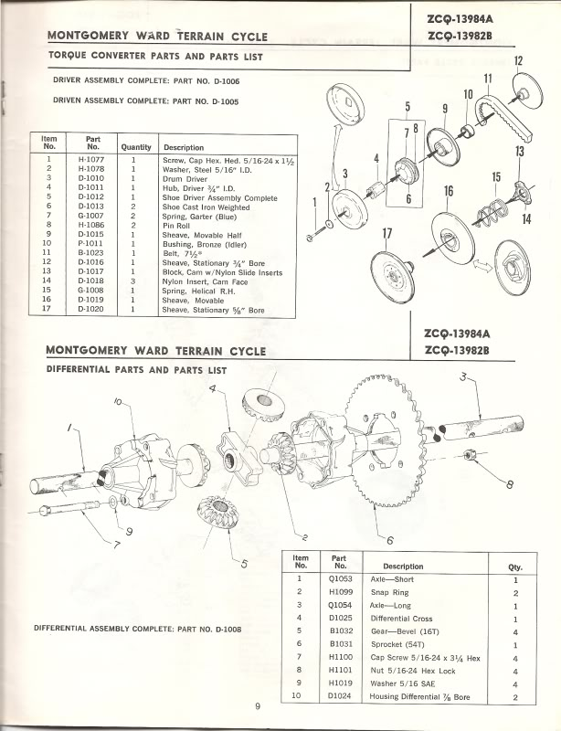 Montgomery Ward Terrain Cycle T555 manual