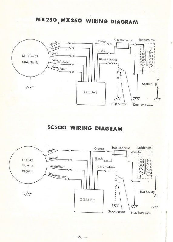 servicemanuals the junk man\u0027s adventures Yamaha Portable Generator Wiring Diagram yamaha sc500 wiring