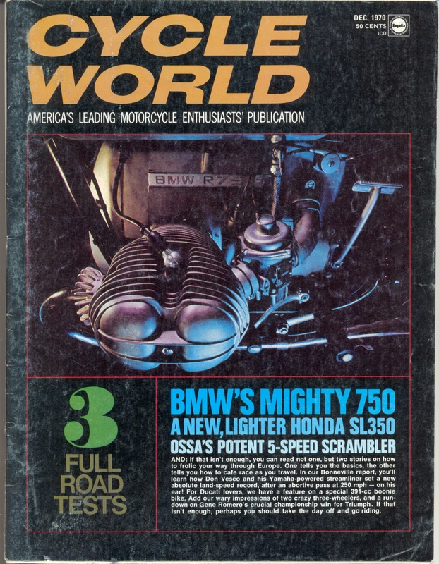 Cycle World Oct 1970 cover