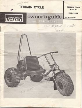 montgomery ward terrain cycle manual