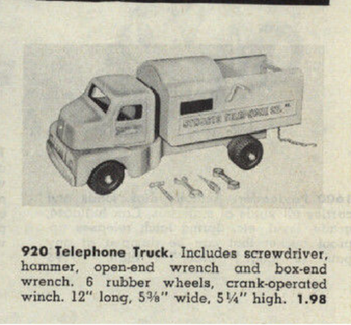 Structo Telephone Truck advertisment