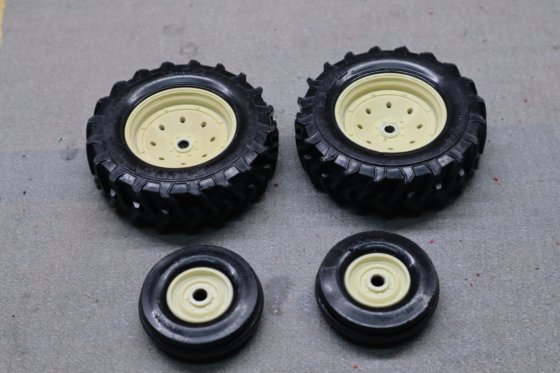 ertl plastic wheels restoration