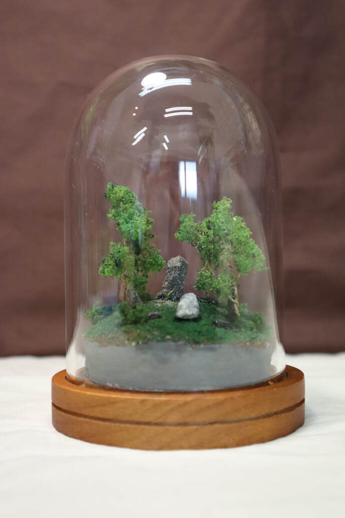 stone circle stone henge time travel outlander diana gabaldon diorama in a jar